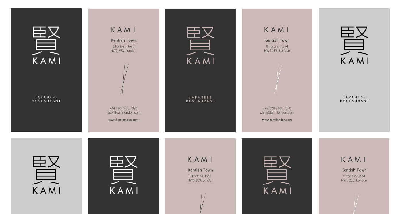 monginigraphics - kami london business cards