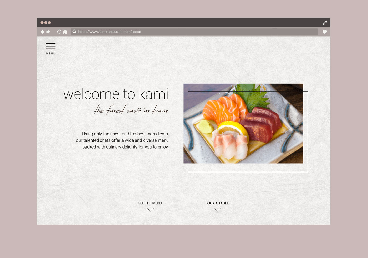 monginigraphics - kami london website