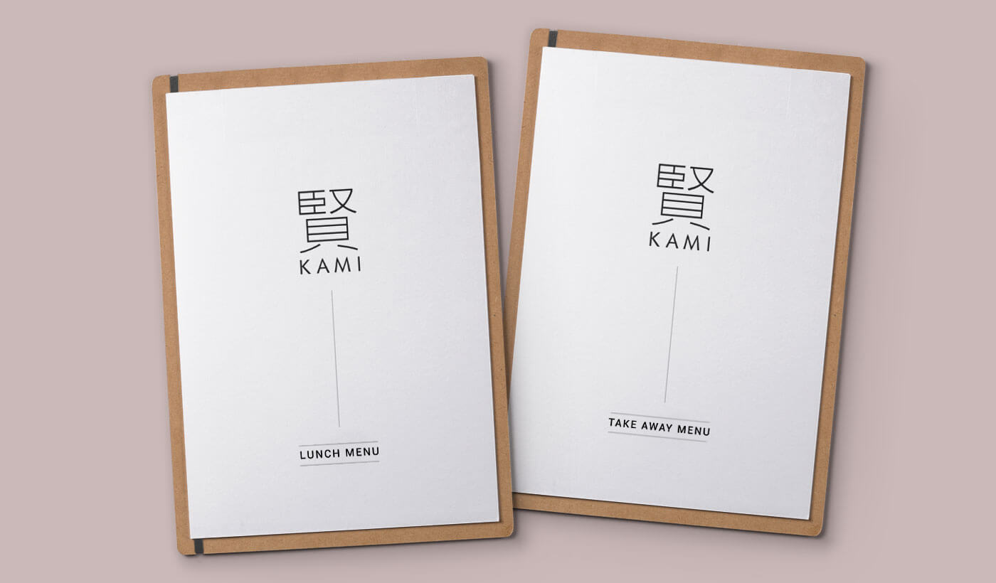 monginigraphics - kami london menu